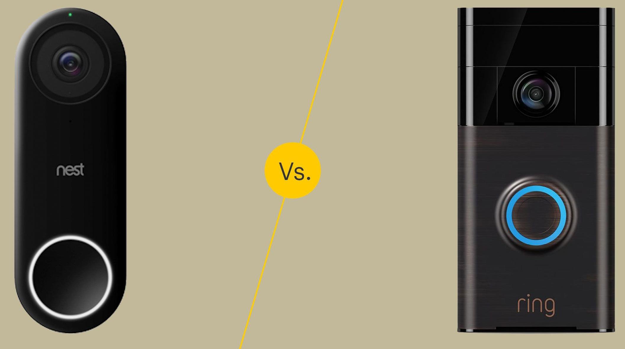Ring vs. Nest doorbell