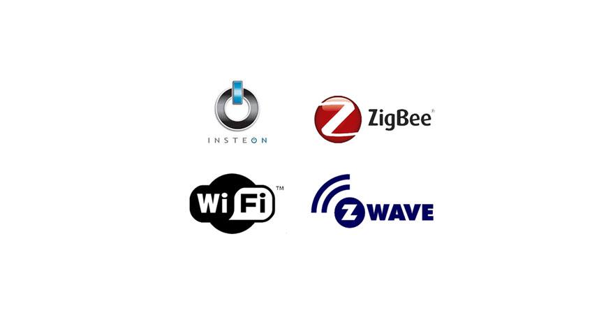 تقنية Zigbee, تقنية Z-Wave, تقنية Insteon,تقنية Wi-Fi