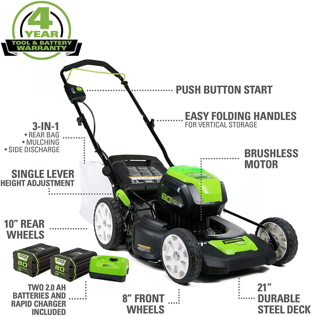 ميزات جزاز العشب من Greenworks